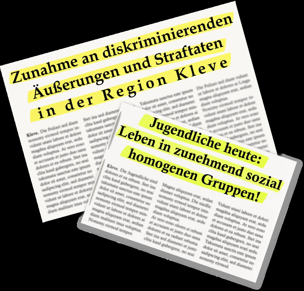 Zunahme an diskriminierenden Äußerungen und Straftaten in der Region Kleve 7 Jugendliche heute: Leben in zunehmend sozial homogenen Gruppen!
